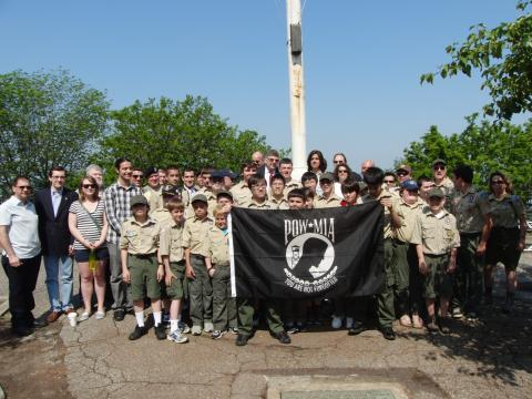 Troop 13 at the POW/MIA Flag Changing Ceremony